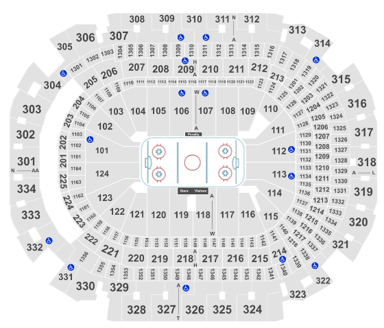 American Airlines Center Seat Map Stars Hockey