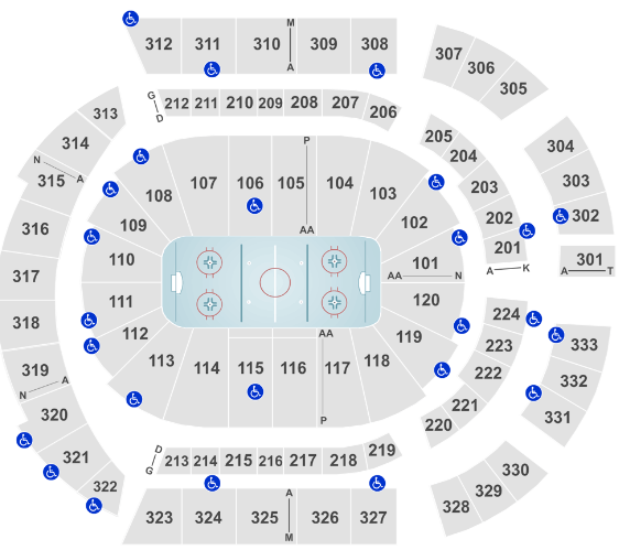 Bridgestone Arena Seat Map Predators Hockey