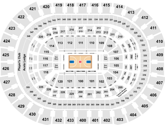 Capital One Arena Seat Map Wizards Basketball