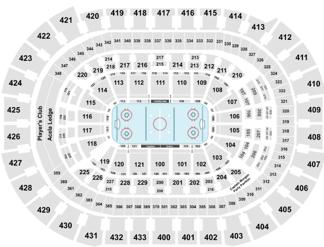 Capital One Arena Seat Map Capitals Hockey