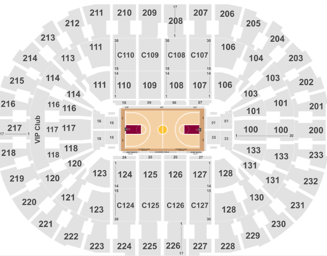 Rocket Mortgage Fieldhouse Seat Map NBA