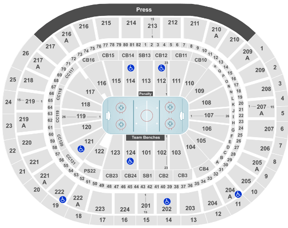 Wells Fargo Center Seat Map Flyers Hockey