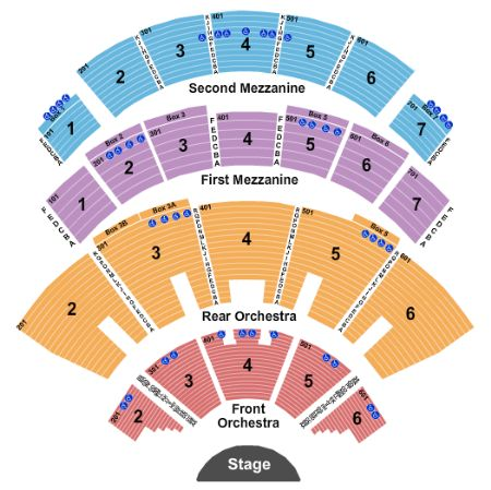 Caesars Palace Colosseum Seating chart