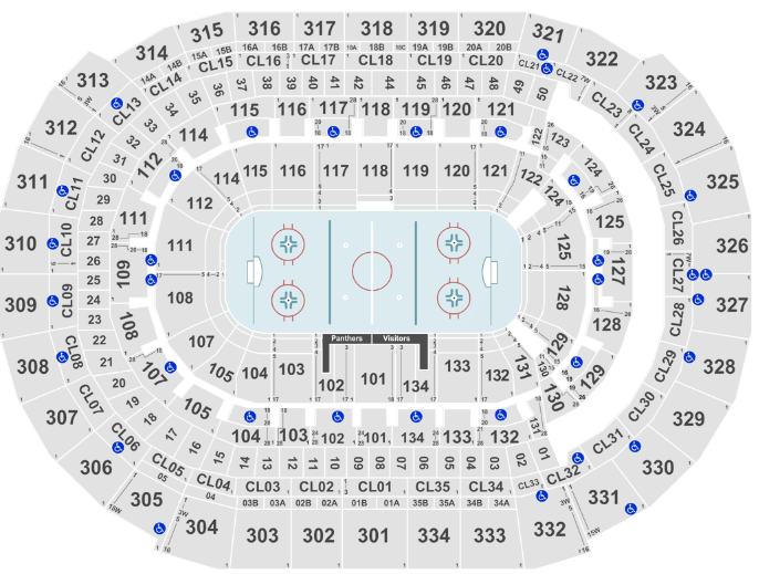 Bb T Center Seat Map