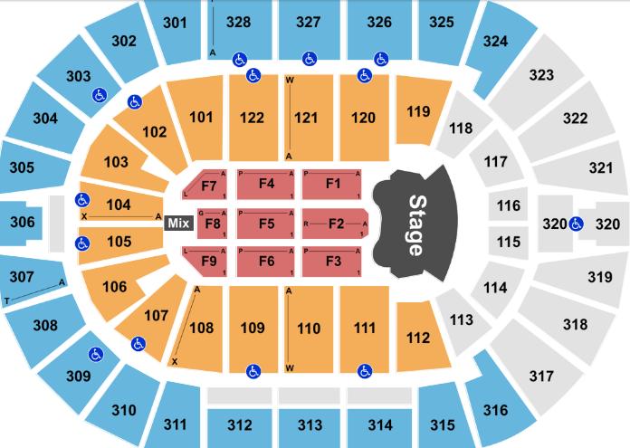 Bok Center Seat Map