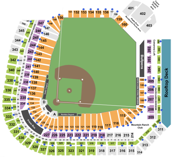 Coors Field Seat Map