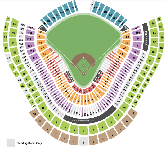 Dodger Stadium Tickets with No Fees at Ticket Club on