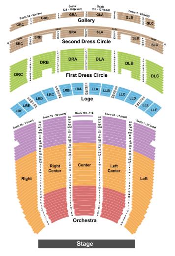 Fabulous Fox Theatre Seat Map