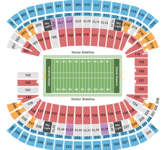 Gillette Stadium Tickets with No Fees at Ticket Club on lockhart stadium map, pittsburgh pirates stadium map, baseball stadium map, cowboys stadium map, o.co coliseum map, fiu stadium map, orlando city stadium map, boston convention and exhibition center map, m&t bank stadium map, patriot place map, papa john's cardinal stadium map, fenway park map, alltel stadium map, assembly square map, yager stadium map, chargers stadium map, arizona stadium map, scott stadium map, peoria stadium map, busch stadium map,
