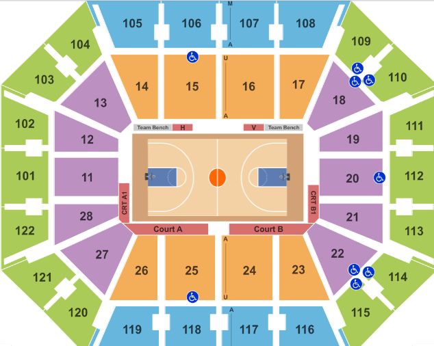 Mohegan Sun Arena Seating Chart Rows Movies Alderwood 7