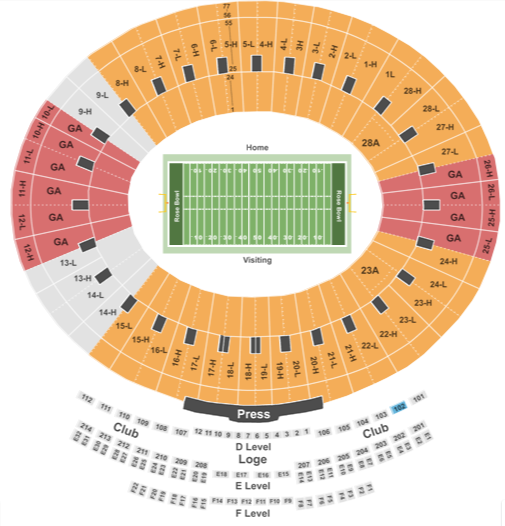 Rose Bowl Pasadena Tickets With No Fees At Ticket Club