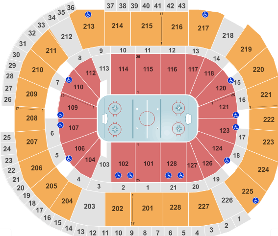 SAP Center Seat Map Hockey