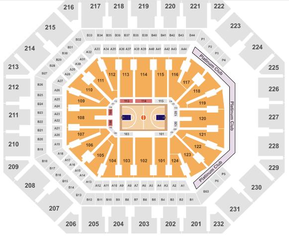 Talking Stick Resort Arena Seat Map