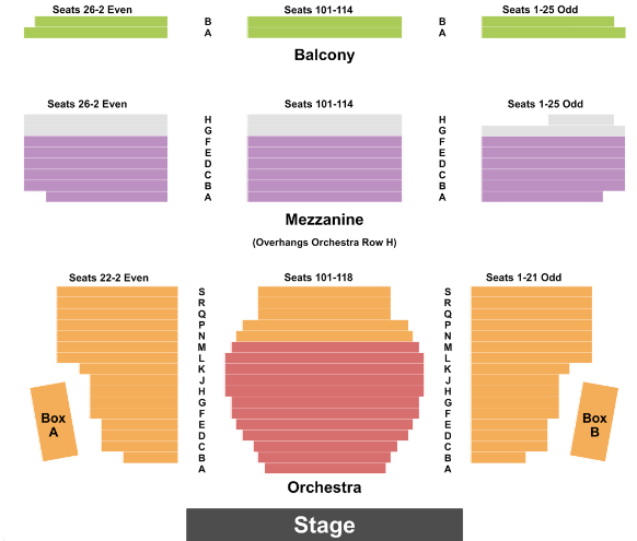 Walter Kerr Theatre Seat Map
