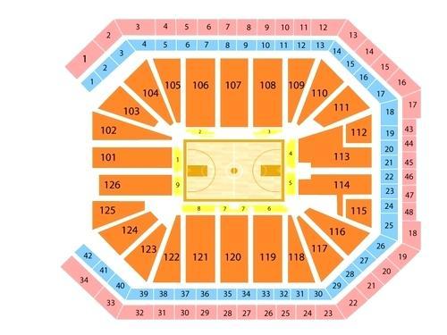 Golden 1 Center Seat Map