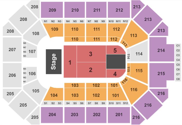 Allstate Arena Seat Map