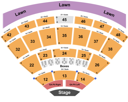 Blossom Music Center Seat Map