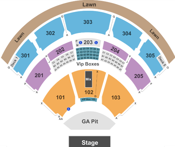 Jiffy Lube Live Seat Map