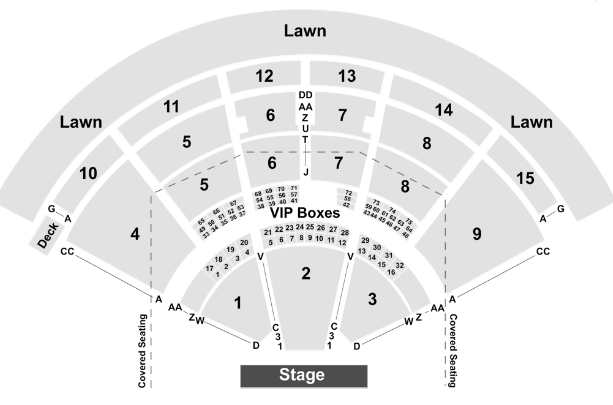 PNC Music Pavilion Seat Map