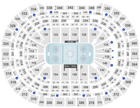 Pepsi Center Seat Map Colorado Avalanche Hockey