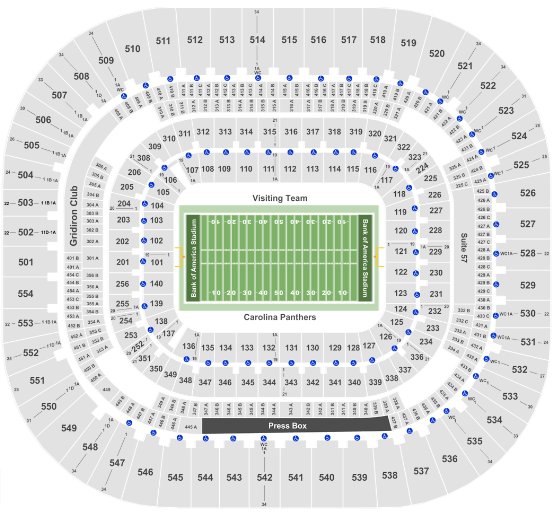 Bank Of America Stadium Tickets With No