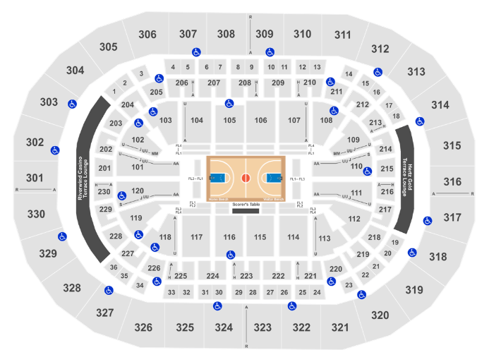 Chesapeake Energy Arena Seat Map