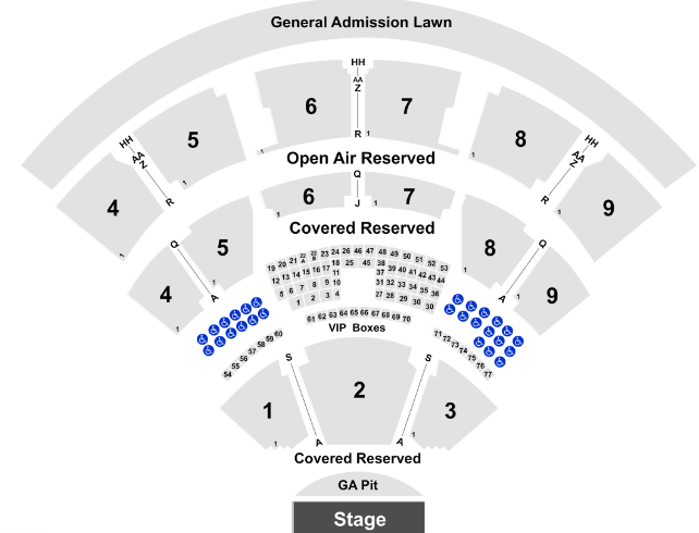 Coastal Credit Union Music Park Seat Map
