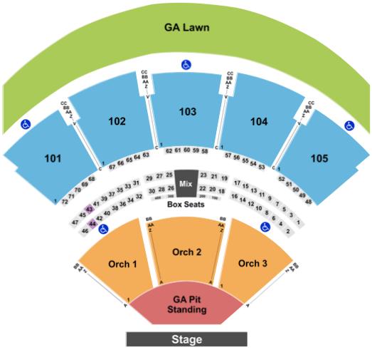 ameris bank amphitheatre seat views